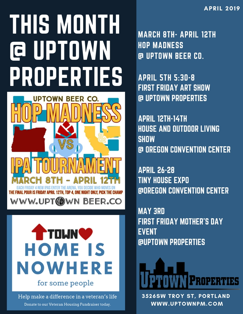 April Activities At Uptown Properties